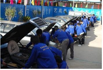 汽车电路实习平台供学员实习拆装